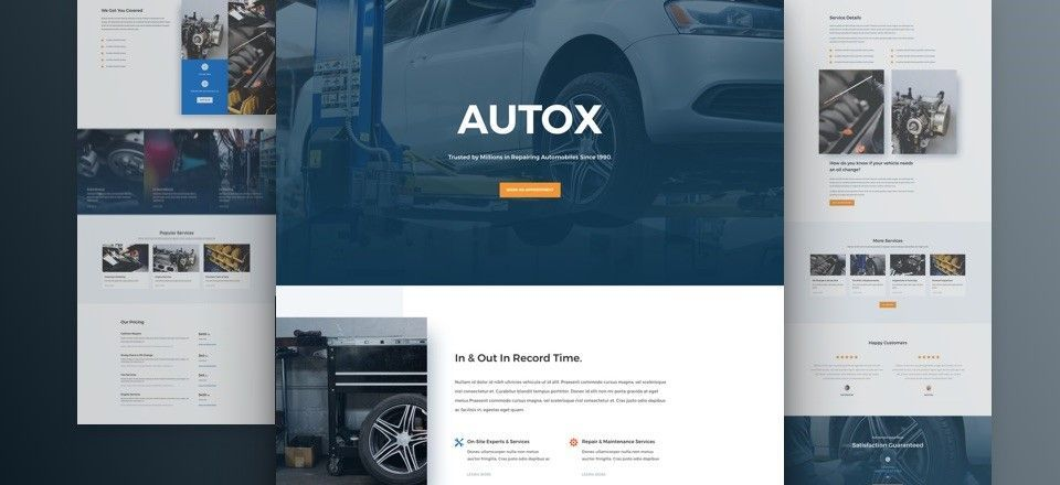 wordpress themes para mecánicos autos