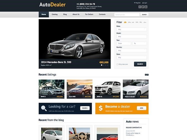 vender coches mejor tema wordpress