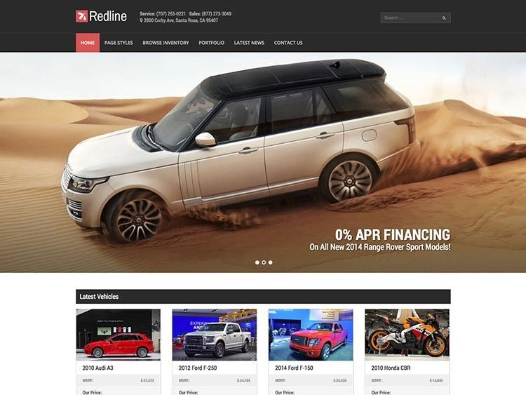 negocio de coches themes wordpress