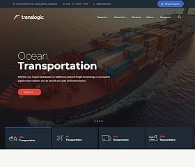 tema wordpress compañía de transportes