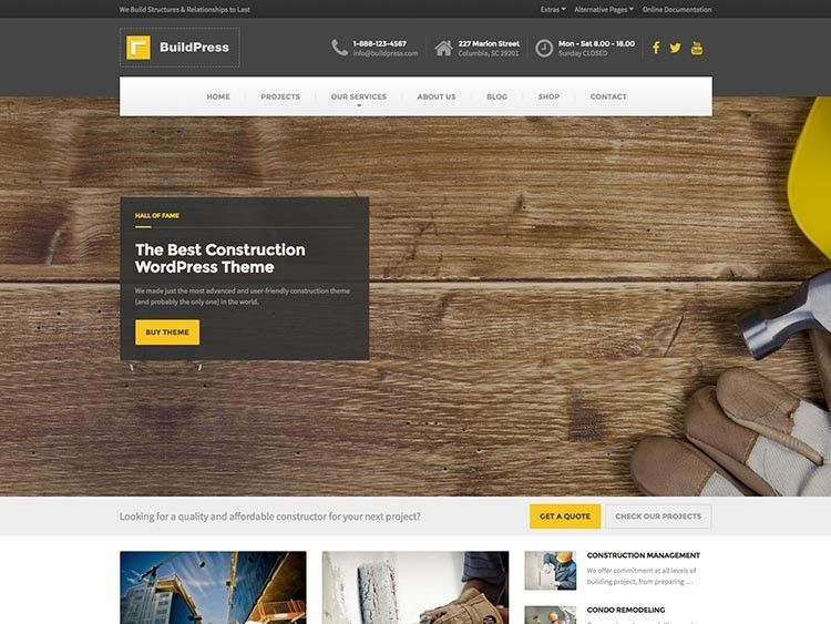 wordpress theme mejor para contratistas