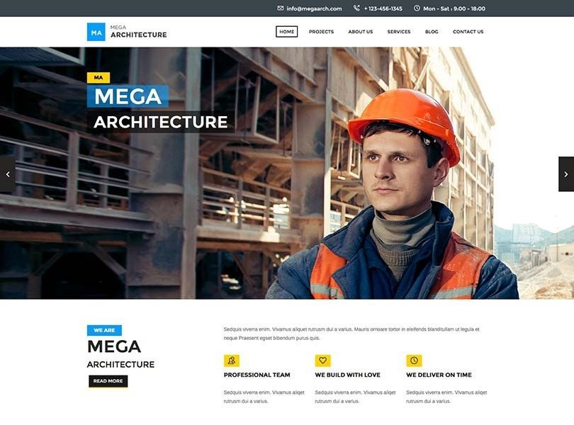 wordpress themes firmas de construcción