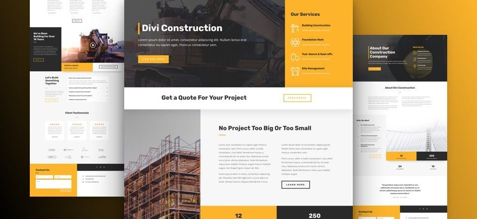 themes wordpress construcción
