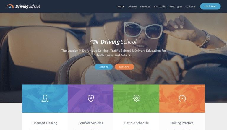 wp themes autoescuelas