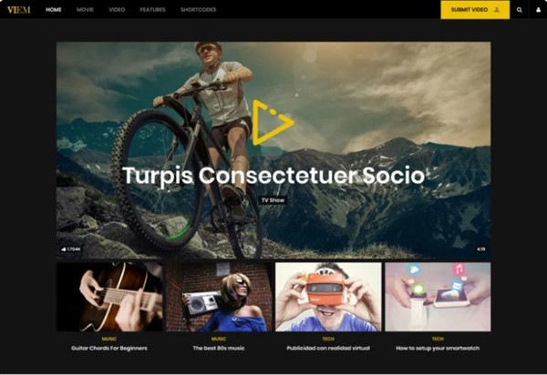 vídeo noticias wp themes